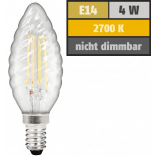 LED Filament Kerzenlampe gedreht McShine