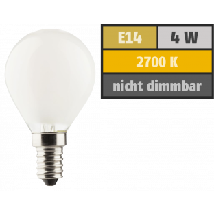 LED Filament Tropfenlampe, E14, 4W, 470lm, 2700K, warmweiß, matt, 3er Set