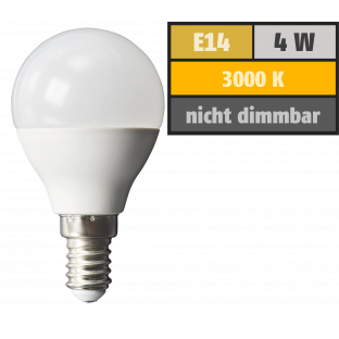 LED Tropfenlampe McShine, E14, 4W, 320lm, 160°, 3000K, warmweiß, Ø45x78mm