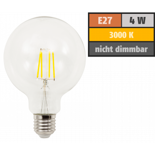 LED Filament Globelampe McShine