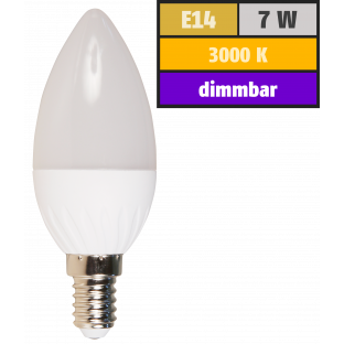 LED Kerzenlampe McShine, E14, 7W, 520lm, 160°, 3000K, warmweiß, dimmbar